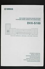 YAMAHA DVX-S100 Original DVD Home Theatre Sound System Manual