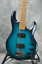Music Man Silhouette Bass Baritone Electric Guitar - Blue Dawn Metallic