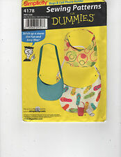 SIMPLICITY 4178 SEWING PATTERNS FOR DUMMIES BAGS