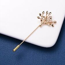 Men's Tree Leaf Lapel Stick Brooch Pin Party Wedding Charm Boutonniere Jewelry