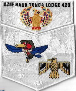 OA Dzie-Hauk Tonga Lodge 429 2004 NOAC Flap Set WHT Bdr. Jayhawk Area [MX-7824]