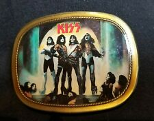 💋KISS💋 LOVE GUN Belt Buckle excellent condition Nice and Glossy 1977 Aucoin