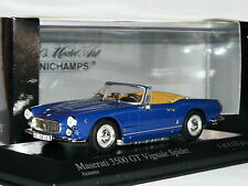Minichamps 1961 Maserati 3500 GT Vignale Spider Blue LTD ED 1/43