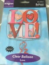 45cm Clear LOVE Balloon