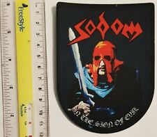 Sodom - Sign of Evil-  printed lasercut patch - FREE SHIPPING