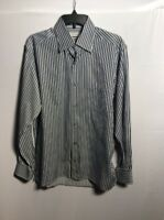 ERMENEGILDO ZEGNA MEN'S BUTTON FRONT LONG SLEEVE SHIRT SIZE MEDIUM