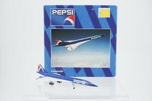 Vintage Herpa Pepsi Concorde 1:500 Diecast Airplane 507011