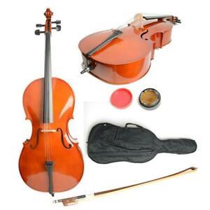 4/4 Top Professional Basswood Cello +Bag+ Bow+ Rosin + Bridge UK Retro