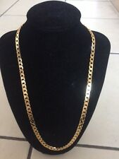 "Never Fade Gold Color 22"" 18KGP Collar Necklace, Wife Husband Xmas Birthday Gift"