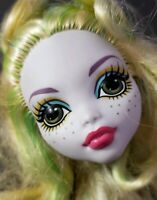 MONSTER HIGH DOLL ROLLER MAZE LAGOONA BLUE HEAD ONLY FOR REPLACEMENT OR OOAK