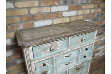 Rustic Cabinet 9 Drawer Chest   Vintage distressed Beach Hut Style