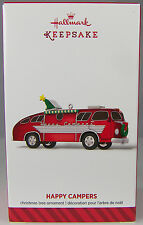 HAPPY CAMPERS Motor Home 2014 Hallmark Christmas Holiday Ornament NIB Festive