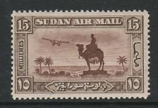 SUDAN 1931-37 15m RED-BROWN & SEPIA WITH WMK SIDEWAYS INVERTED SG 52aw MNH.