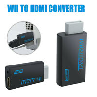 Adapter Cable Wii to HDMI Adapter Converter Stick 1080p Full HD TV Audio 3.5 mm