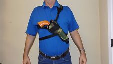 "Right Hand CAMO Bandoleer Shoulder CHEST Holster RUGER BLACKHAWK  7-1/2"" barrel"