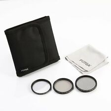 Fotga 46mm 3PC Slim Filter Set Fader Variable ND + CPL Circular Polarizing + UV
