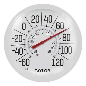 "NEW SPRINGFIELD 90050 8"" DIAMETER LOW PROFILE OUTDOOR THERMOMETER 7300890"