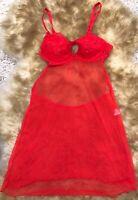 GRESSE  red  Camisole Top sleepwear nightwear size Us 32B It 2B eu 70B