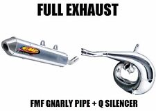 FULL FMF GNARLY PIPE EXHAUST AND Q QUIET SILENCER 91-01 HONDA CR500R CR 500 R
