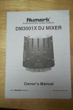 Owner / User Manual for the Numark DM3001X DJ Mixer
