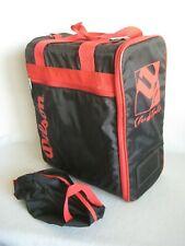 Wilson Retro Vintage Club Tote Bag Sports Gym Travel Bag Padded Black Red