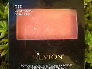 REVLON ULTRA-SOFT SILKY SATIN FINISH POWDER BLUSH, #010 CLASSY CORAL
