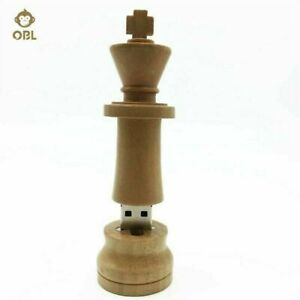8GB Wooden King Chess Piece Shaped Memory Stick USB Flash Drive