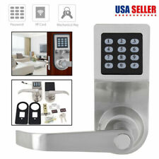Smart Keyless Digital Door Lock Electronic Security Entry Passcode w/ RF Card