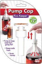 Jokari Fizz Keeper Pump Cap 2 Liter/Lt Soda Pop Bottles Saves Carbonation #1049