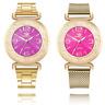 Luxury Fashion Women Crystal Watch Stainless Steel Analog Quartz Wrist Watch