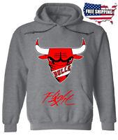 Chicago Bulls 23 Michael Jordan NBA Flight Air Jersey Gray Hoodie Free Shipping