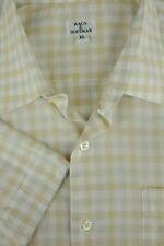 Maus & Hoffman Men's Tan Geometric Short Sleeve Cotton Casual Shirt XL XLarge