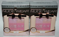 Lot of 2 Physicians Formula Nude Wear Glowing Nude Blush #6238 Rose 0.17 oz Ea*