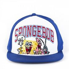 Spongebob Squarepants, Patrick, SQUIDWARD Blue and White Snapback Cap (NEW)