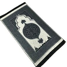 Economic Taffeta Ottoman Prayer Rug | Muslim Prayer Mat - (110 x 68 cm) -Cream