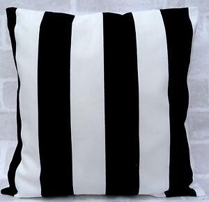 "Ikea Sofia Black and White Stripe Cushion Cover 16"" 18"" 20"" 22"" 24"""