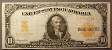 1907 $10 Gold Certificate, grades VF+, FR# 1172, Ten Dollars Gold Coin on Demand