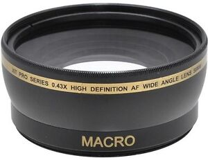 58mm Wide Angle Lens for Canon PowerShot G9 G7 (Required adapter not included)