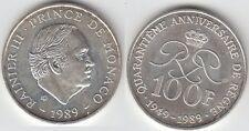 Gertbrolen MONACO 100 Francs Argent  40 Ans du Règne de  Rainier III 1989 N° 18
