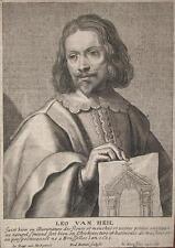 1661 Leo van Heil Maler Kupferstich-Porträt de Bie