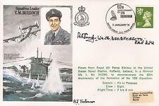 HA22 RAF Libertador U-Boat Bulloch Cubierta firmado costeras comando Cundy DSO DFC