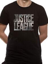 Justice League Logo Official DC Comics Movie Black Mens T-shirt