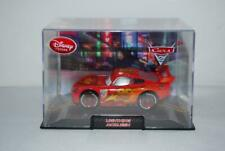 Disney Store Pixar Cars Lighting McQueen Red in Acrylic Case 1:34