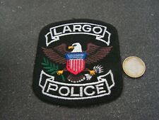 PATCH POLICE ECUSSON COLLECTION  USA   police largo