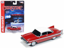 "AUTOWORLD 1958 PLYMOUTH FURY CHRISTINE ""CHRISTINE"" 1/64 DIECAST MODEL CAR  6401"