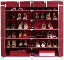 FOLDING SHOE RACK 12 LAYERS- DOUBLE 6 layer Shoe organiser multipurpose rack