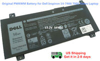 New Original PWKWM Battery for Dell Inspiron 14-7466 7467 7000 15.2v 56Wh OEM