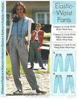 Sewing Step by Step ELASTIC WAIST PANTS 1994 Misses Sizes 4 - 22 Uncut