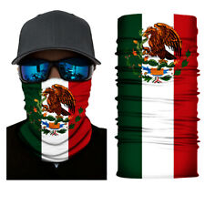 Mexico Flag Face Mask Bandana Neck Gaiter Head Band Multi-Use Tube Scarf Cover