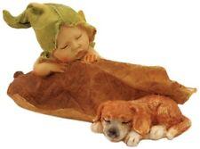 "4"" Sleeping Fairy Baby with Puppy Fairy Garden Terrarium Dollhouse Miniature"
